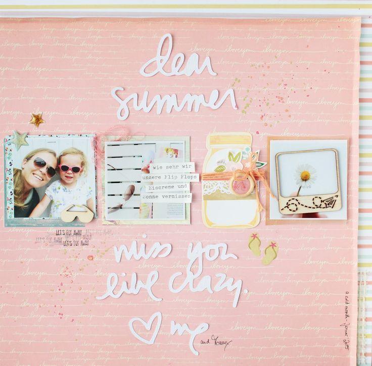 Scrap Sweet Scrap: Dear summer, miss you like crazy - layout for CSI