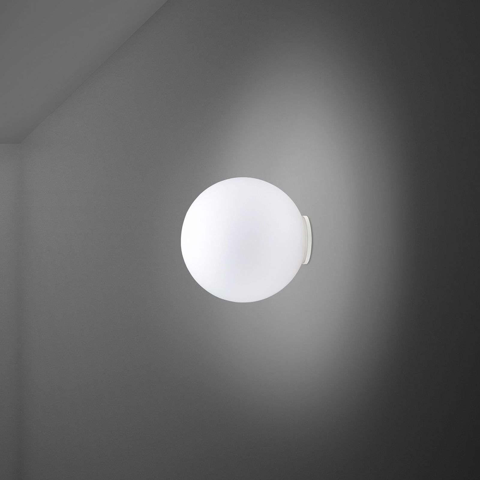 Fabbian Lumi Sfera Glas Wandleuchte Grivory Wandleuchte Glaskugel Und Lichtquelle