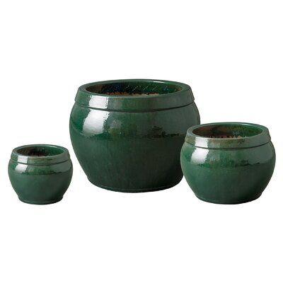 Emissary Bowl Rim Ceramic Pot Planter   Perigold