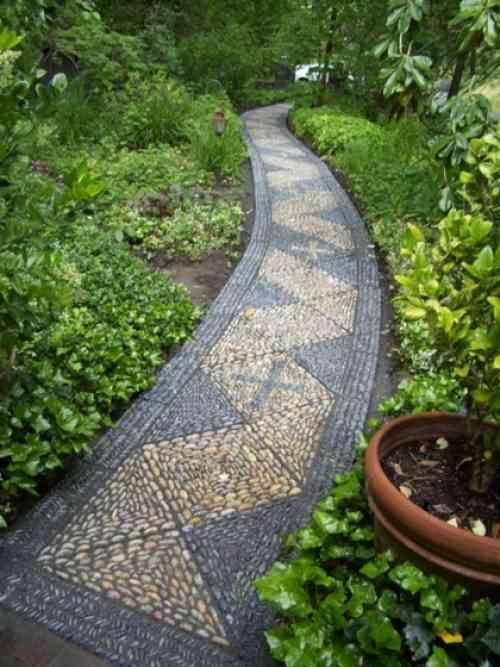 Comment Decorer Une Allee De Jardin Avec Des Galets