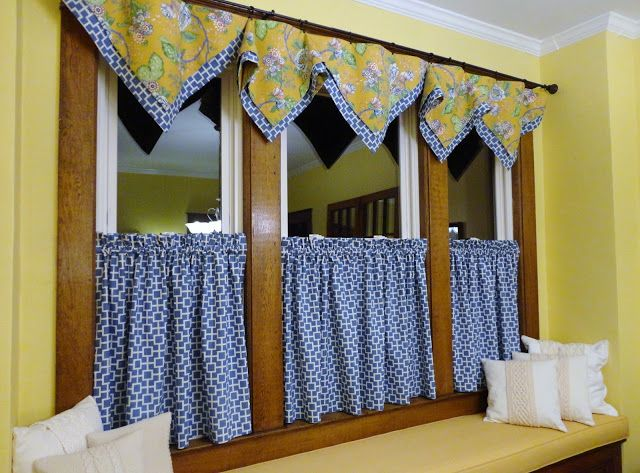 I'm loving this fabric combination.   I bought the fabric two weeks ago   and already the window treatments are   sewn and h...