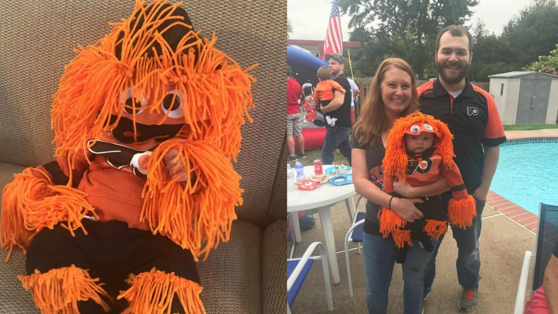 Flyers fan creates first gritty costume for friends