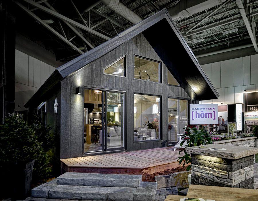 Galerie de photos habitaflex chalet h m decor ideas for Mini maison usinee