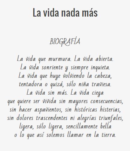 La vida nada m s poema de gabriel celaya my poetic for Buscador de poemas