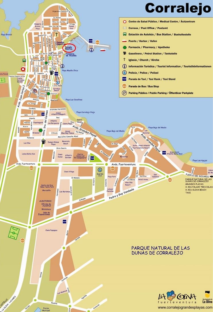 Map Of Corralejo Corralejo tourist map | TRAVEL.Canary Islands in 2019 | Tourist