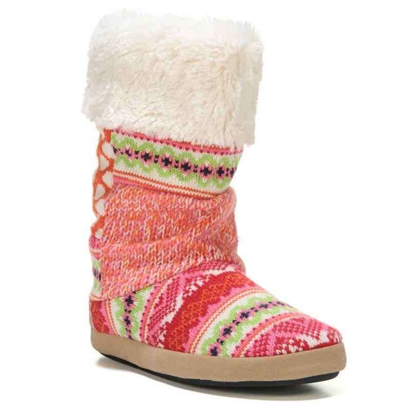 da7090b283c Women's Tall Patchwork Memory Foam Boot Slipper   Products   Slipper ...
