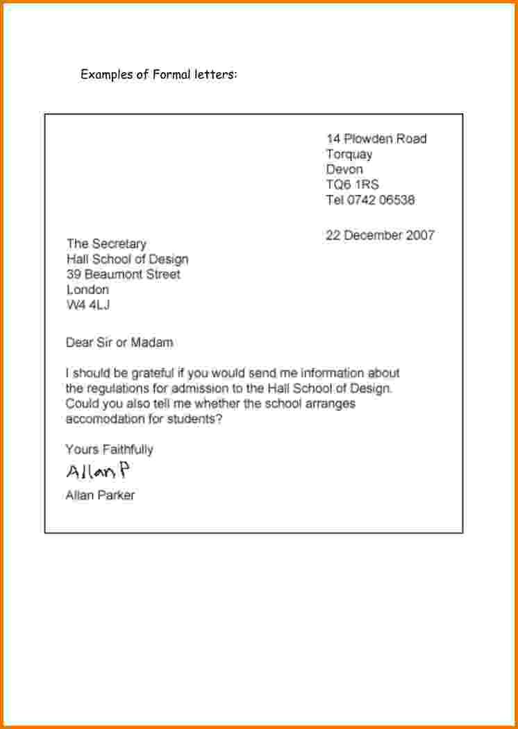 formal letter format examples cbfccd dce cceeag business pinterest