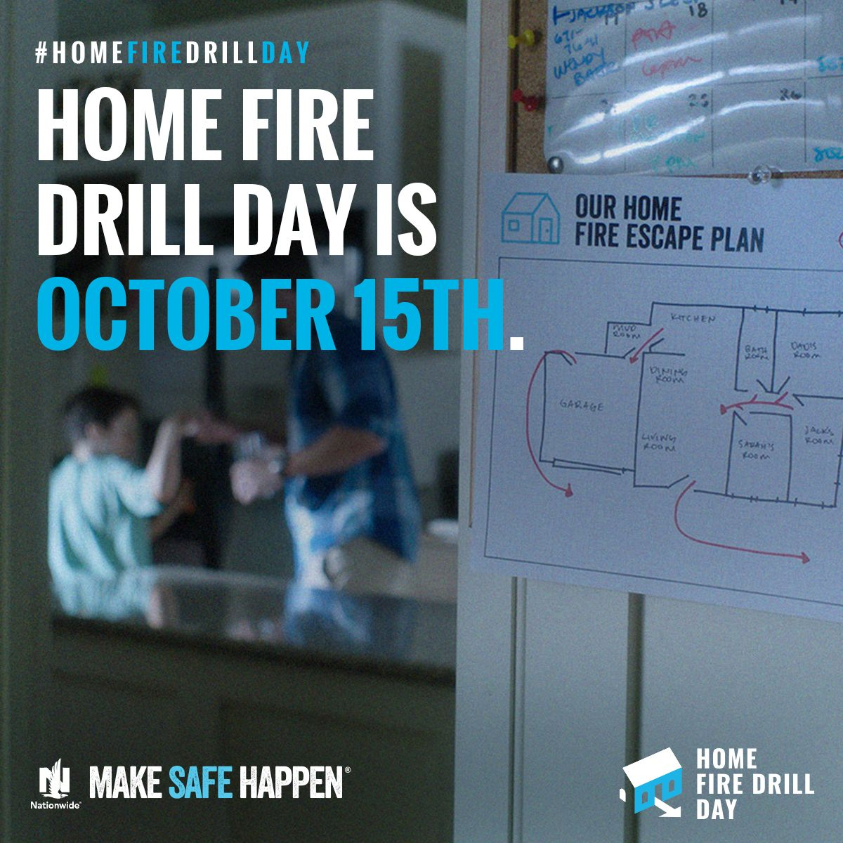 Make Safe Happen Home Fire Drill Day Fire drill, How