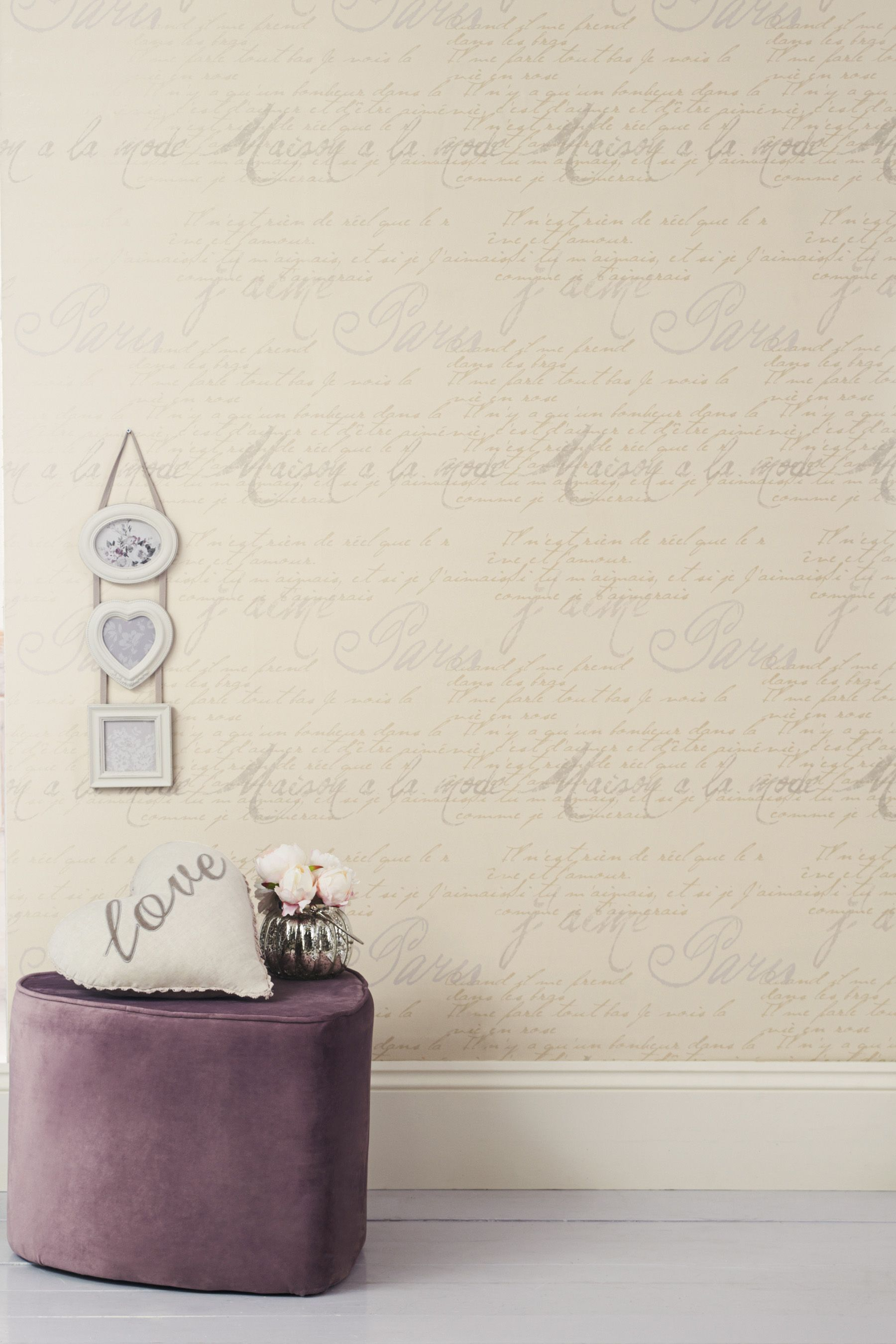 Buy French Script Wallpaper from the Next UK online shop