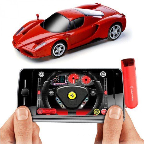 Ferrari der fjernstyres fra smartphone