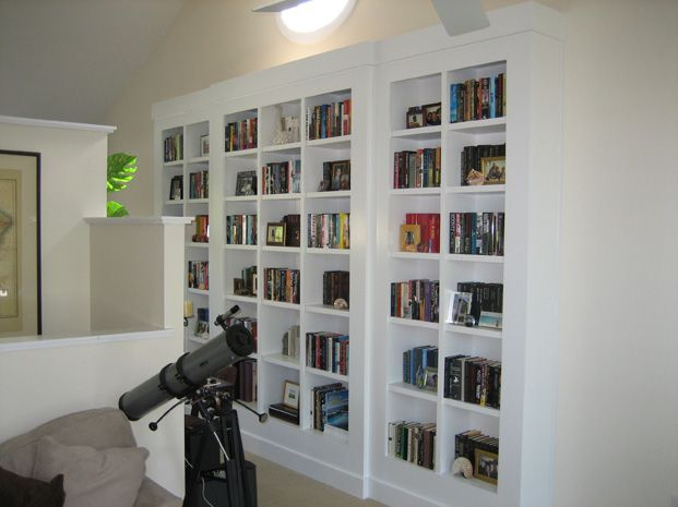 Contemporary Built In Wall Unit Custom Bookcases