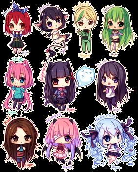 Tiny Chibis Pagedoll Free To Use By Hyanna Natsu Cute Anime Chibi Chibi Drawings Kawaii Chibi
