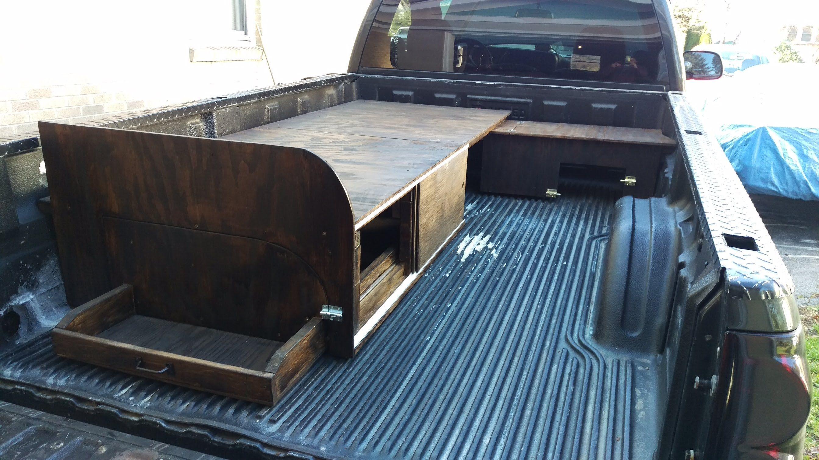 LUXURY TRUCK CAP CAMPER 2.0 Truck bed camping, Truck cap