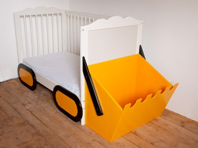 baggerset f r kinderbett spielbett bagger bett von kanaholz auf kids in 2019. Black Bedroom Furniture Sets. Home Design Ideas