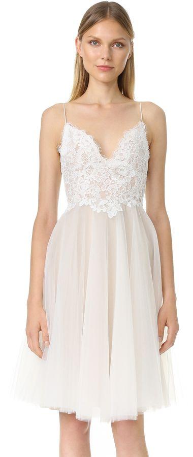 Monique Lhuillier Kylie V Neck Dress, Wedding Dresses ...