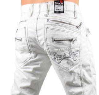 CIPO   BAXX Jeans C 832 Designer Hose NEW STYLE weiß  5b7a02d79f