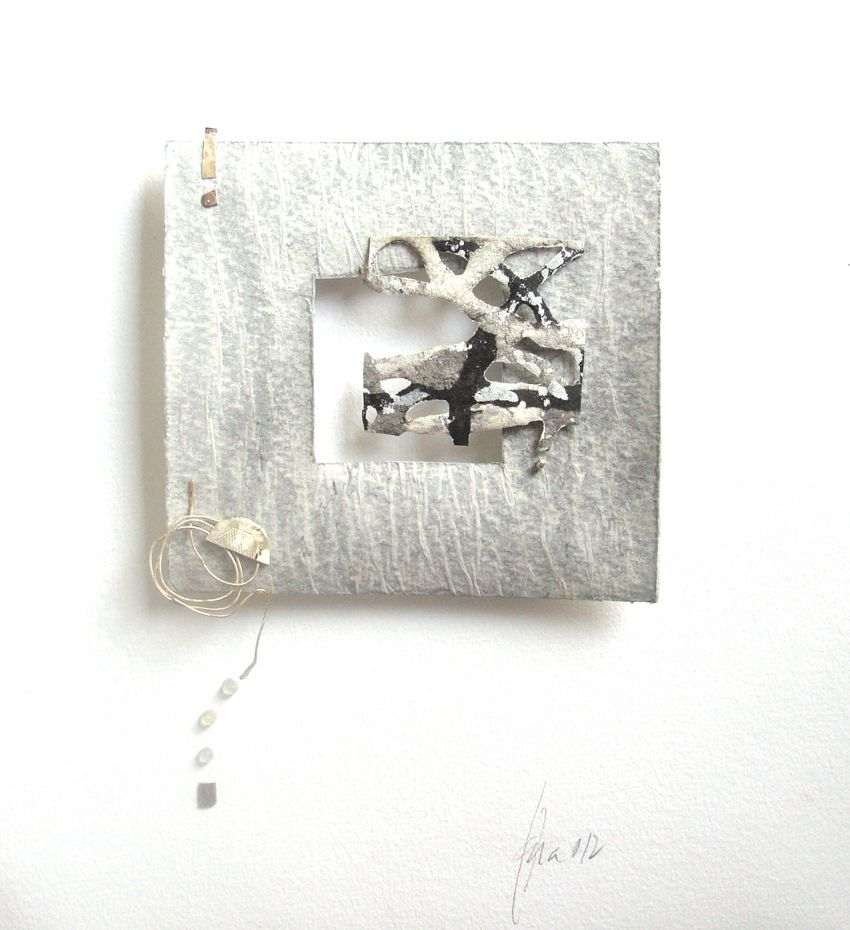 19 ~ artist ~  Llana - Blanca Serrano ~ paper box...not a brooch, but the inspiration for one?  Wonderful example of asymmetrical balance of objects...would be lovely as a brooch as well.
