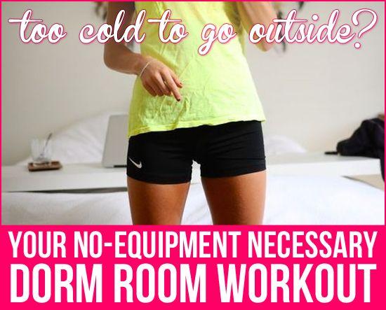 Your No Equipment Necessary Dorm Room Workout