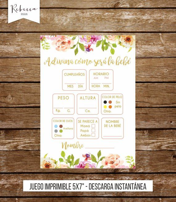 Guessing game in spanish baby shower rosa game in spanish español juegos baby shower printable espanol pink girl baby shower game niña 237