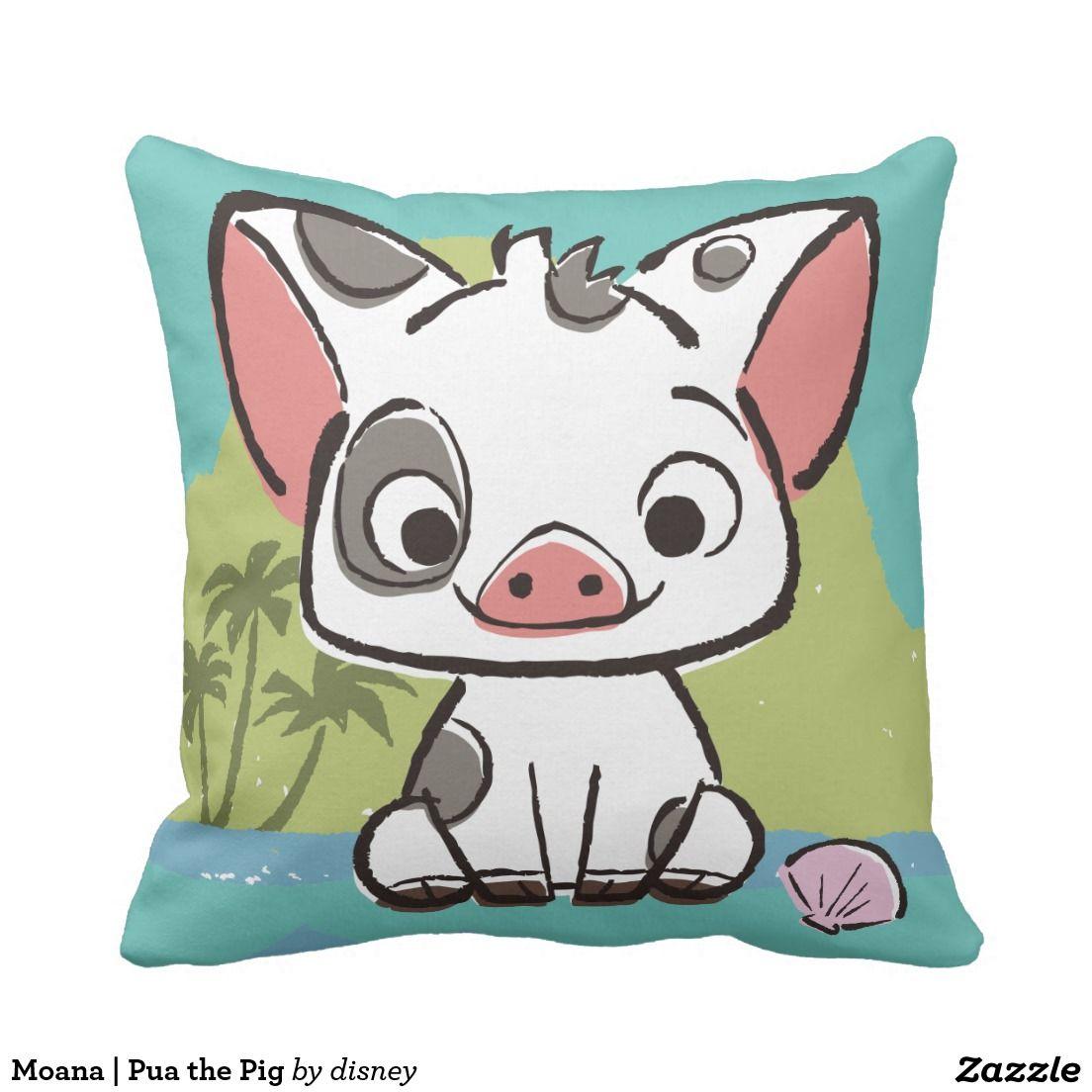 Moana | Pua The Pot Bellied Pig Throw Pillow | Decoracion para el ...