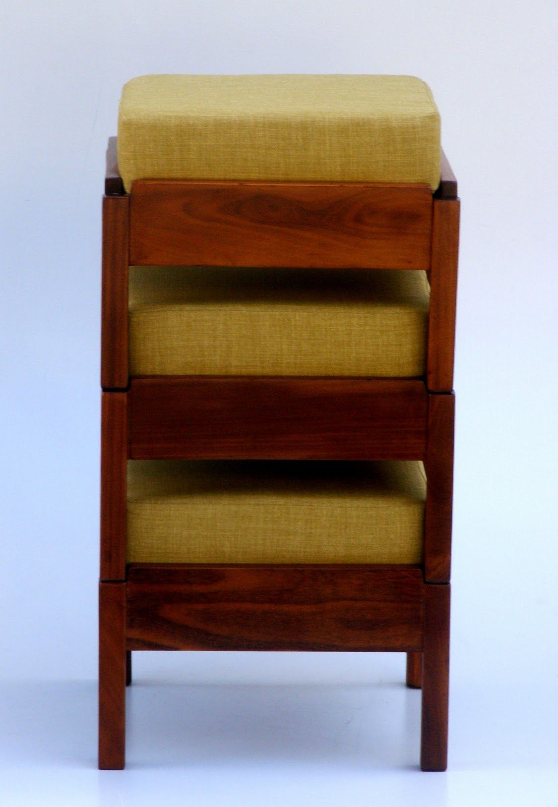 Vintage Modern Stacking Ottomans Furniture Funky
