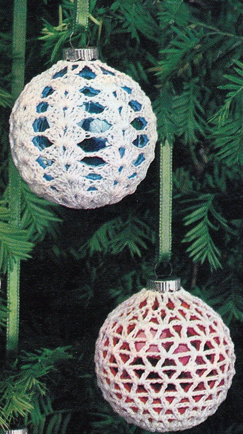 Crochet Christmas Ornament Covers Vintage Crocheting Pdf Etsy Christmas Crochet Patterns Christmas Crochet Crochet Ornaments