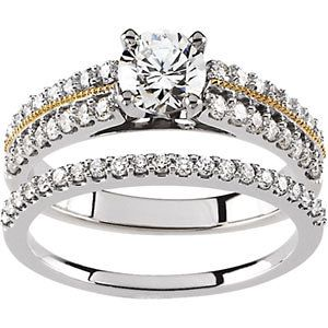 Two - Tone Wedding Ring 65568