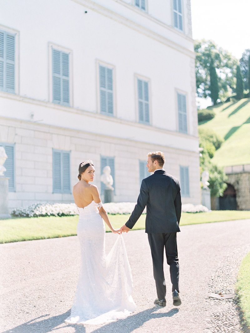 This Pre Wedding Shoot Took Place At The Gorgeous Villa Melzi On