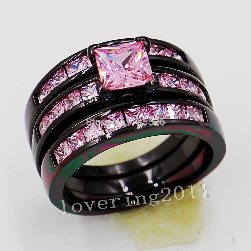 Victoria Wieck Engagement Princess Pink Sapphire Simulated Diamond