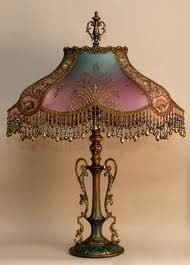 victorian lamp shades - Google Search
