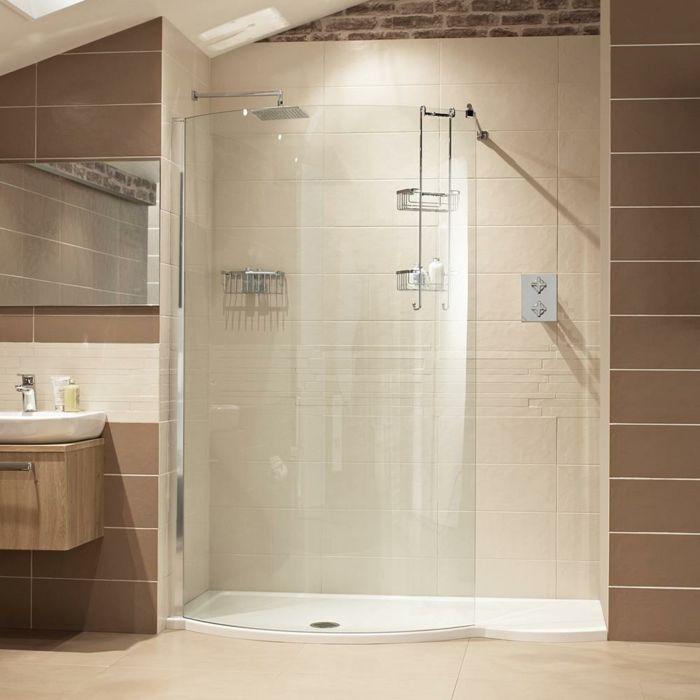 cabine de douche castorama en plexiglas, carrelage beige dans la ...
