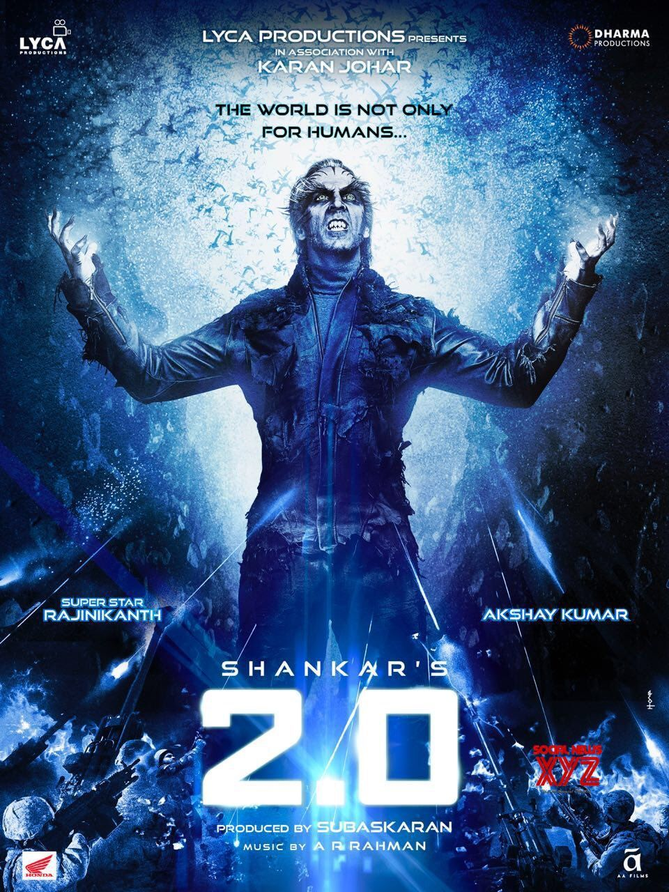 Akshay S Fans Get Birthday Treat With New 2 0 Poster Social News Xyz Full Movies Download O Movie Telugu Movies Download