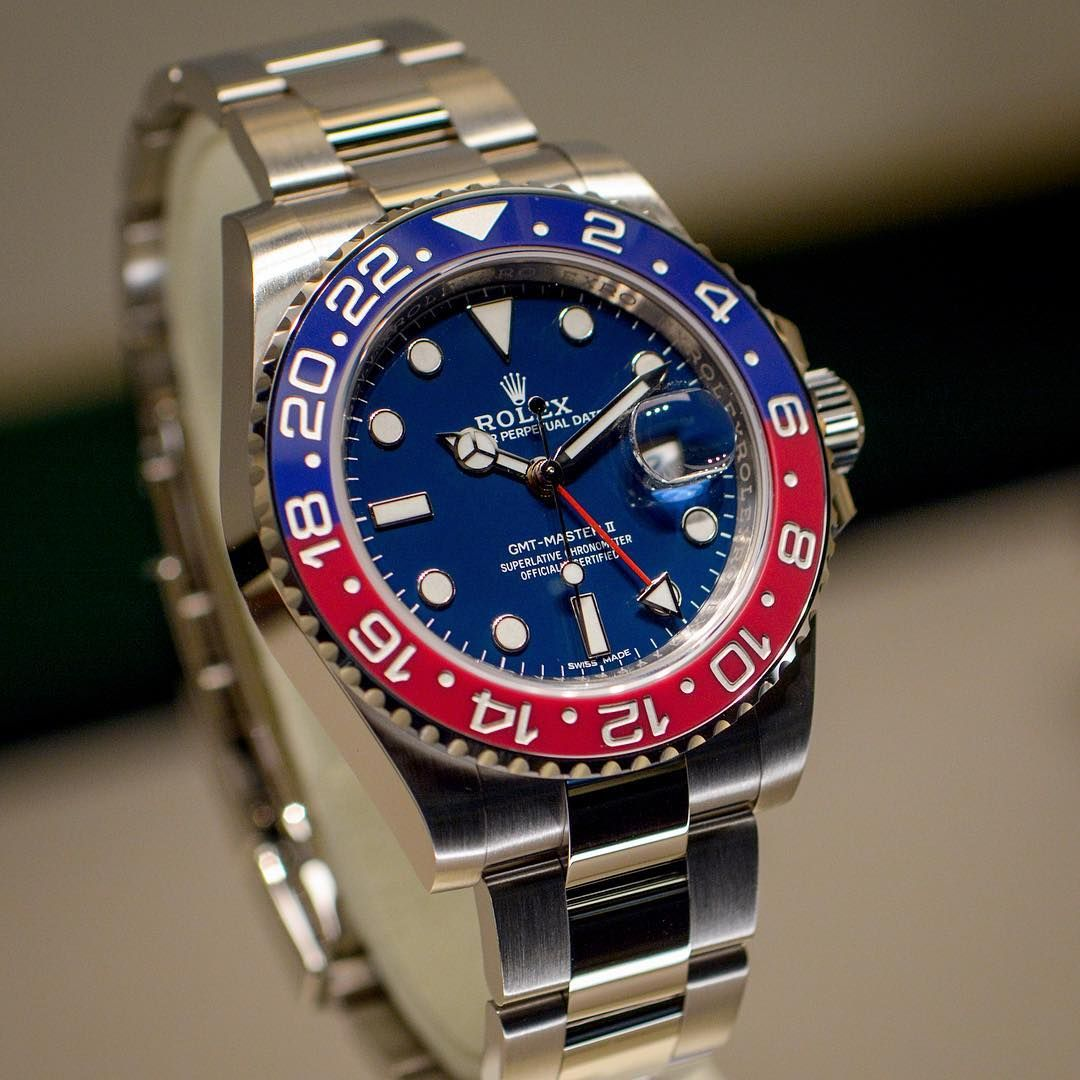 Rolex GMTMaster II 116719 BLRO blue dial Baselworld 2018