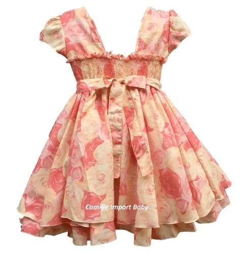 caaba337ee Vestido Festa Infantil Floral Luxo 4 A 12 Anos Com Tiara à venda em  Hortolândia Interior São Paulo por apenas R  99