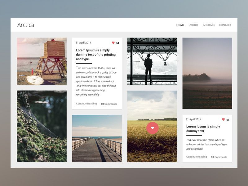 Arctica blog theme v2