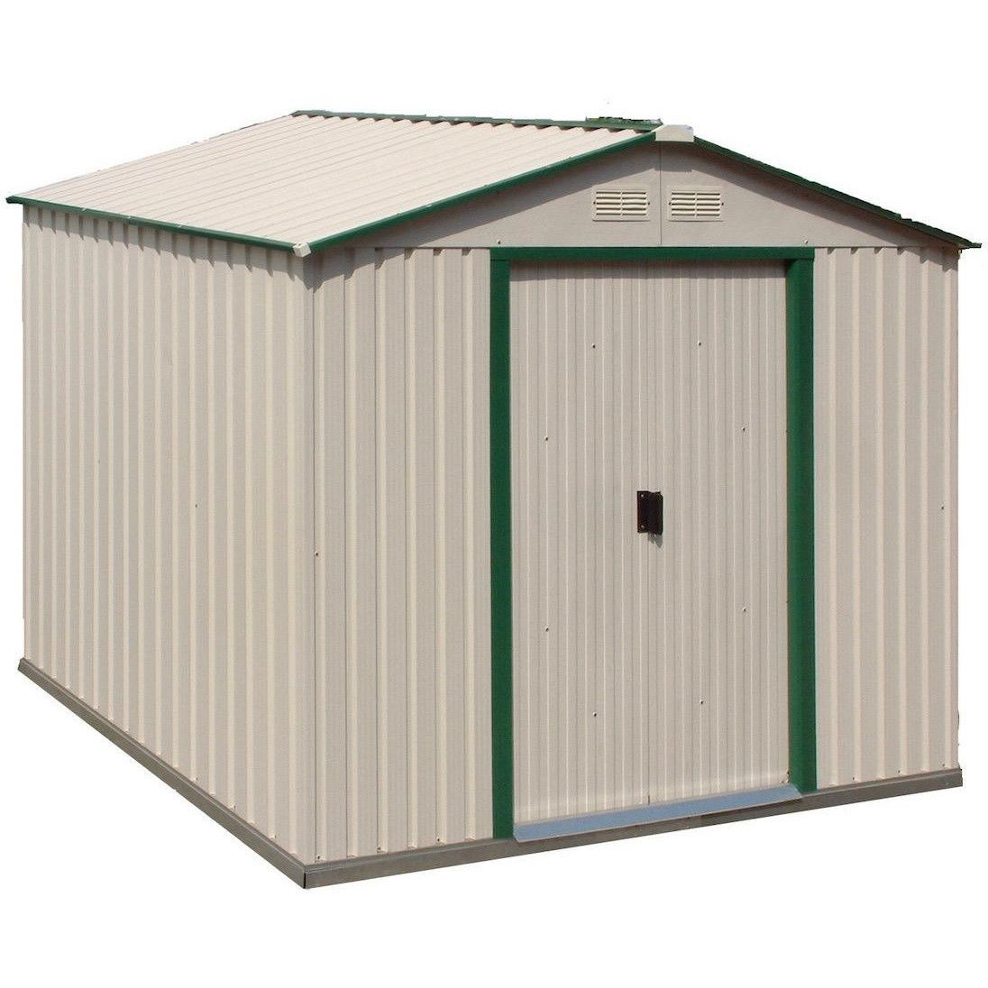 Duramax 10x8 Del Mar Metal Storage Shed With Foundation Kit Metal Shed Shed Metal Storage Sheds