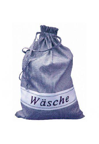 Wäschesack - blau - weiß kariert: Amazon.de: Küche & Haushalt