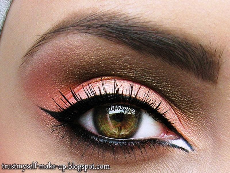 Stylish Coral Eye Makeup So Pretty Pinterest Makeup Eye And
