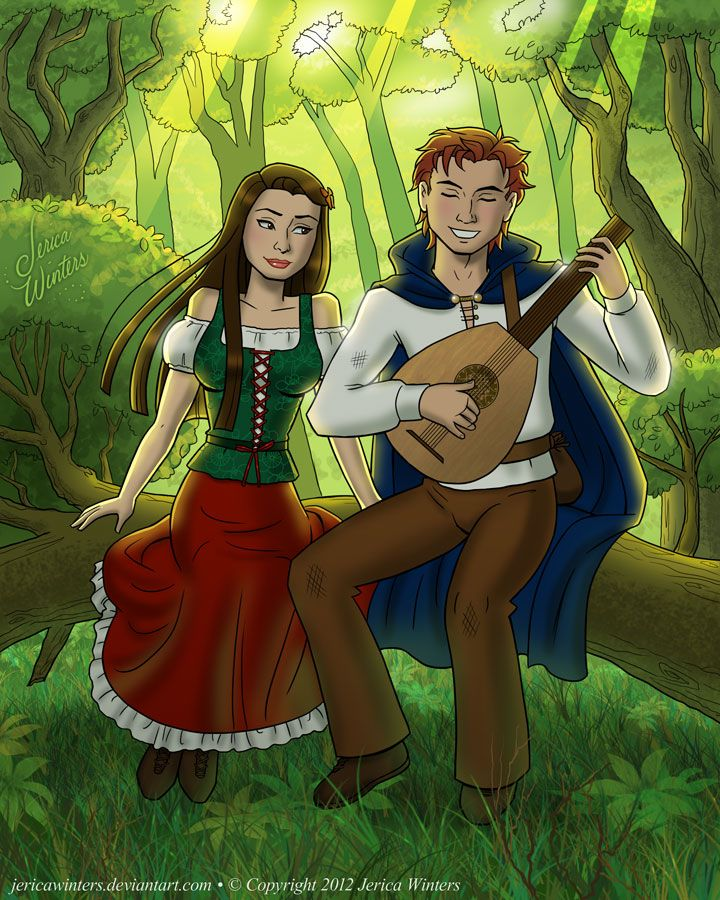 Kvothe and Denna by Jerica Winters / jericawinters.deviantart.com | LIKE  EolianTavern on