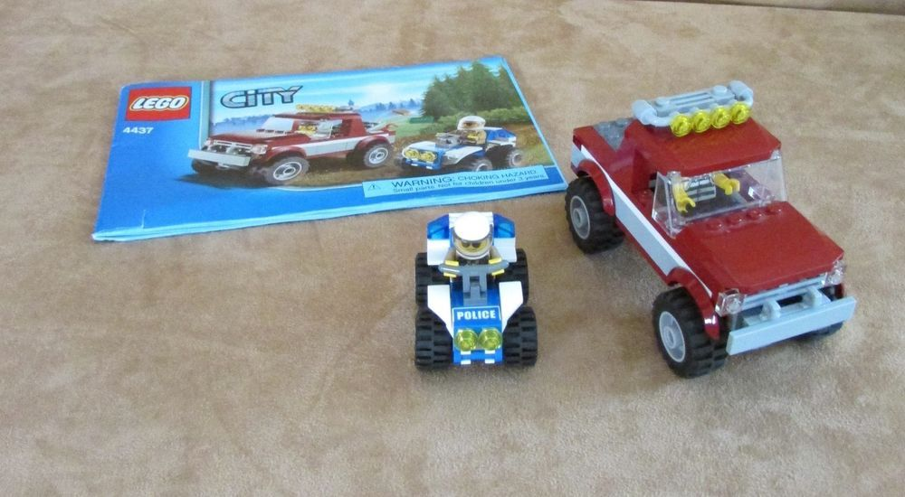 4437 Lego City Police Pursuit Complete Instructions Minifig Forest