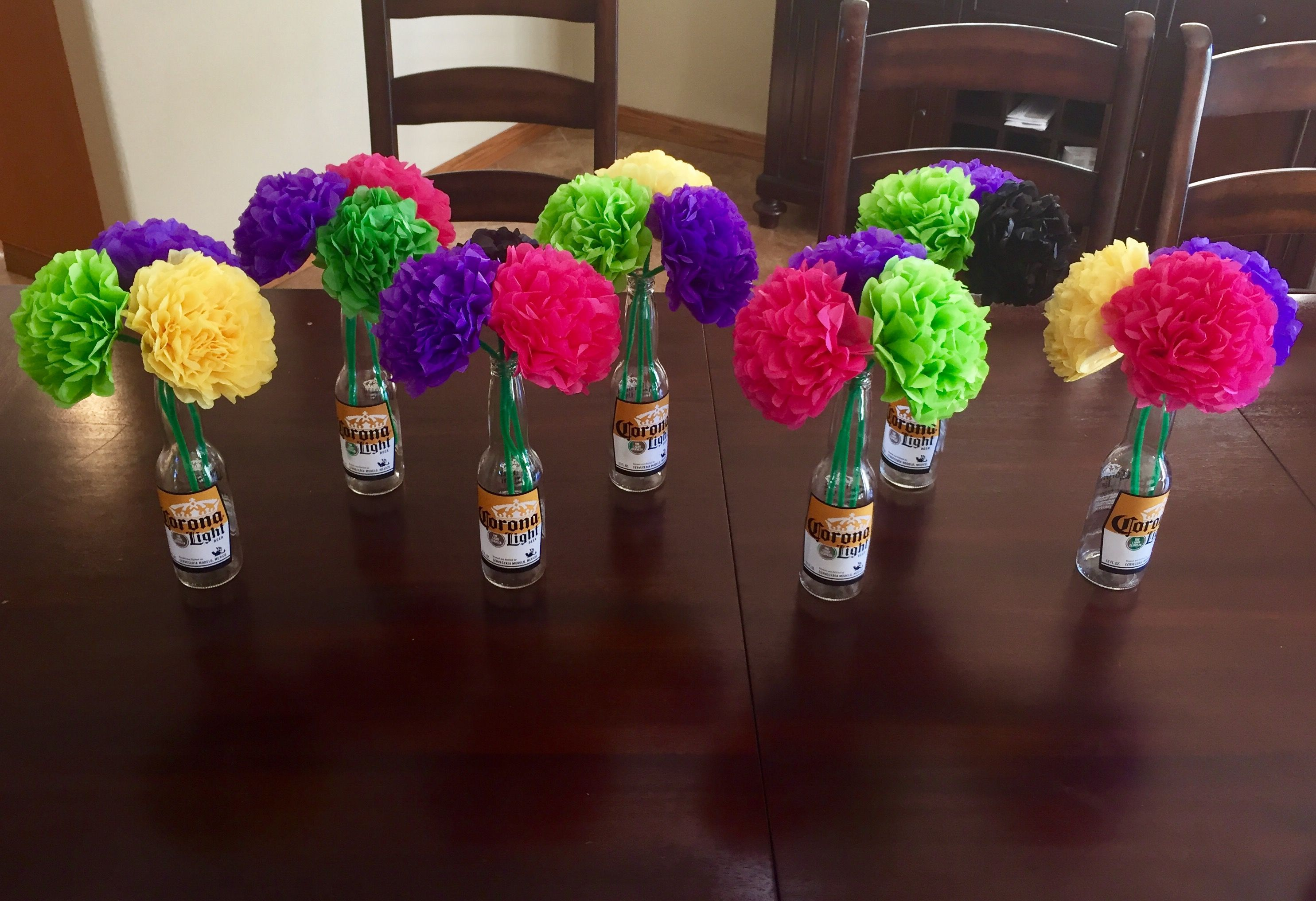 Tissue Paper Flower Centerpieces Mexican Family Reunion Family