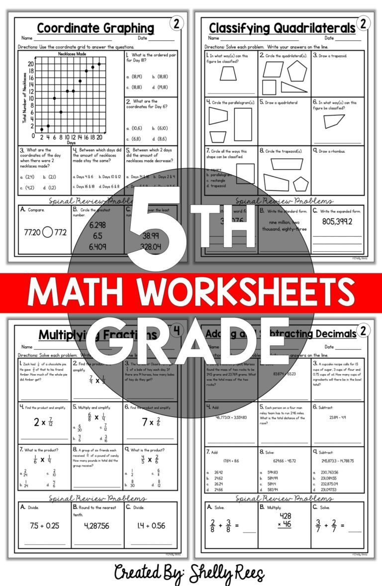5th Grade Math Worksheets Free And Printable Appletastic Learning 5th Grade Math Math Worksheets Grade 5 Math Worksheets