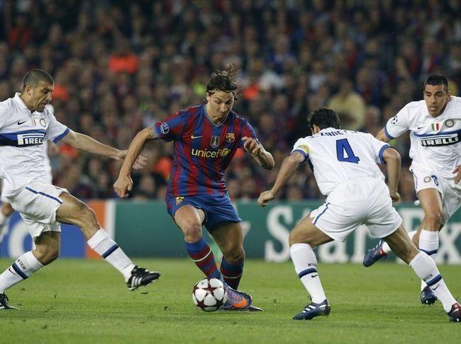 Barcelone - Inter Milan : Zlatan Ibrahimovic