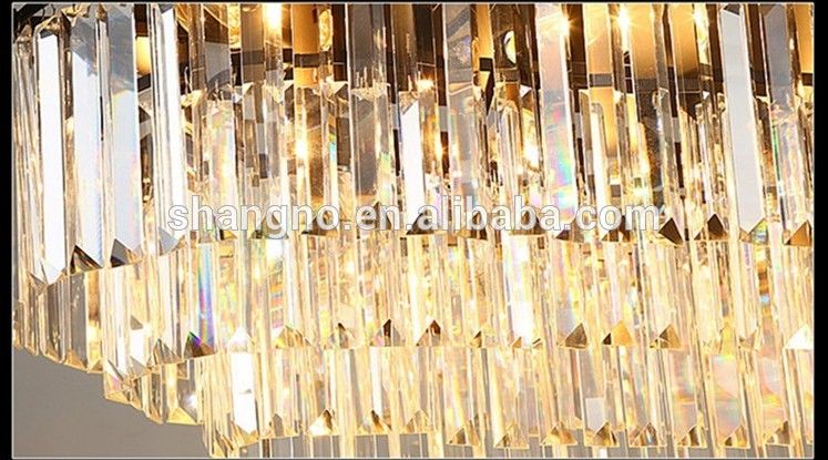 Photo of Nordic Modern luxury 3 layer oval base led crystal chandelier ceiling light decorative for ho…