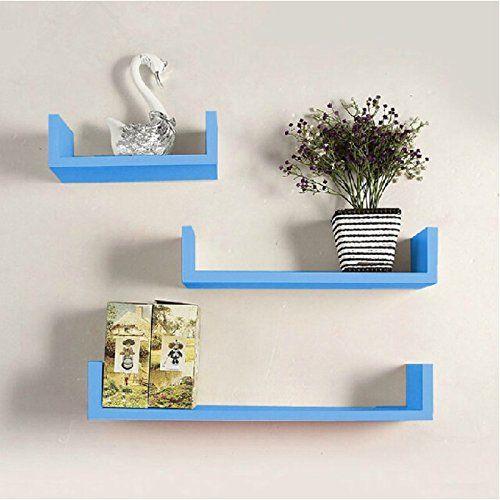 Onlineshoppee MDF Handicraft Wall Decor U-shaped Designer Wall Shelf