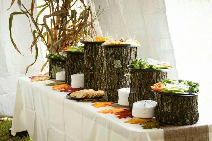 Rustic Appetizer Table Rustic Farm Wedding Autumn Wedding