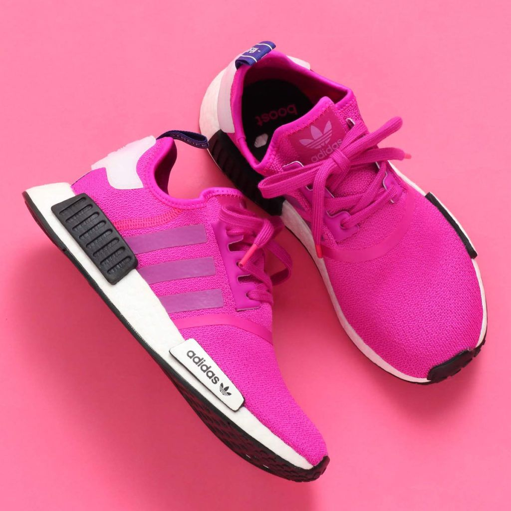 The Womens adidas NMD R1 Vivid Pink is