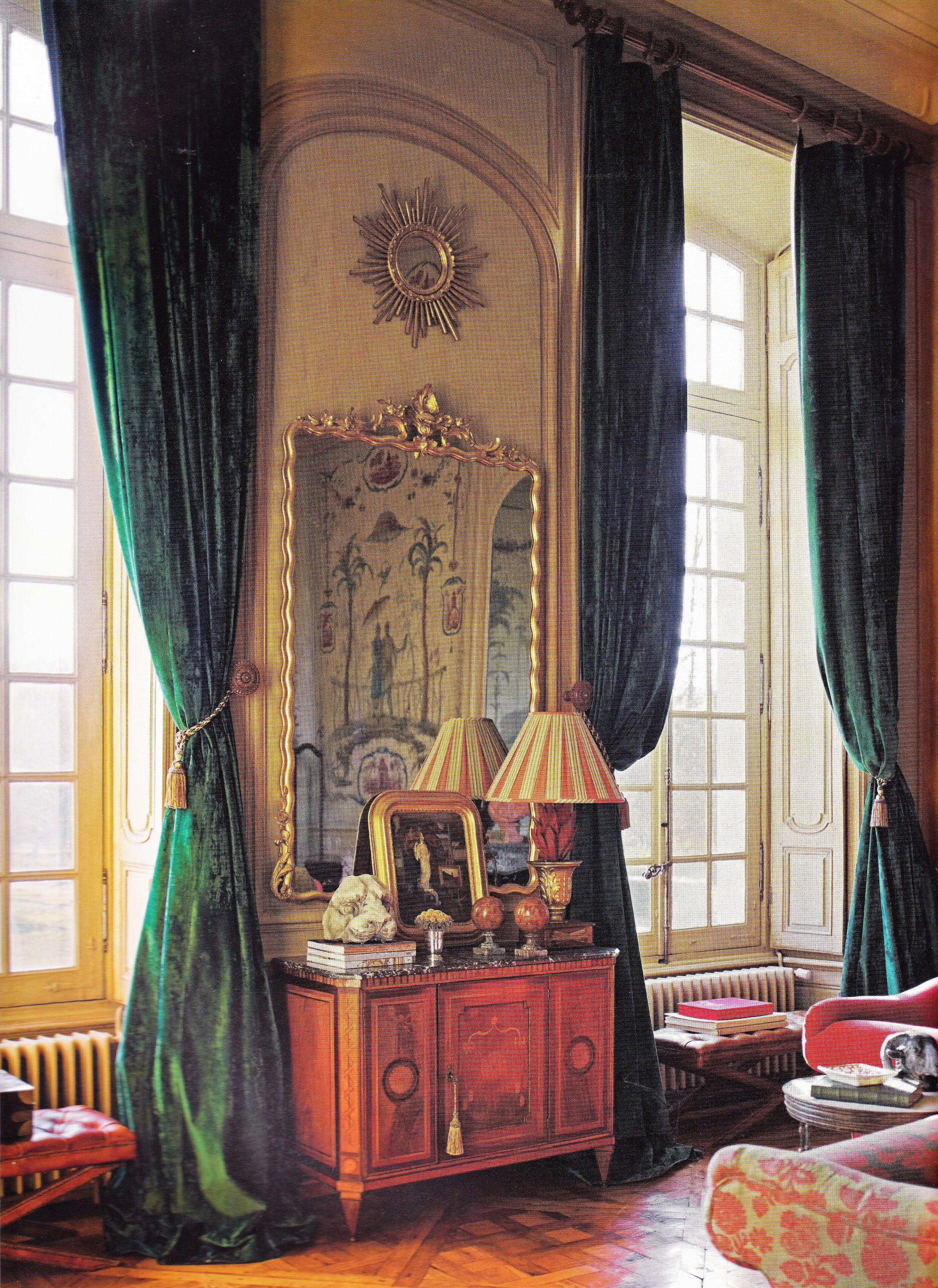 Decorator Timothy Corrigan S Restored Chateau Du Grand Luce Chinois Salon Features Panels By John Bapti Room Interior Design Interior Design Photos Interior