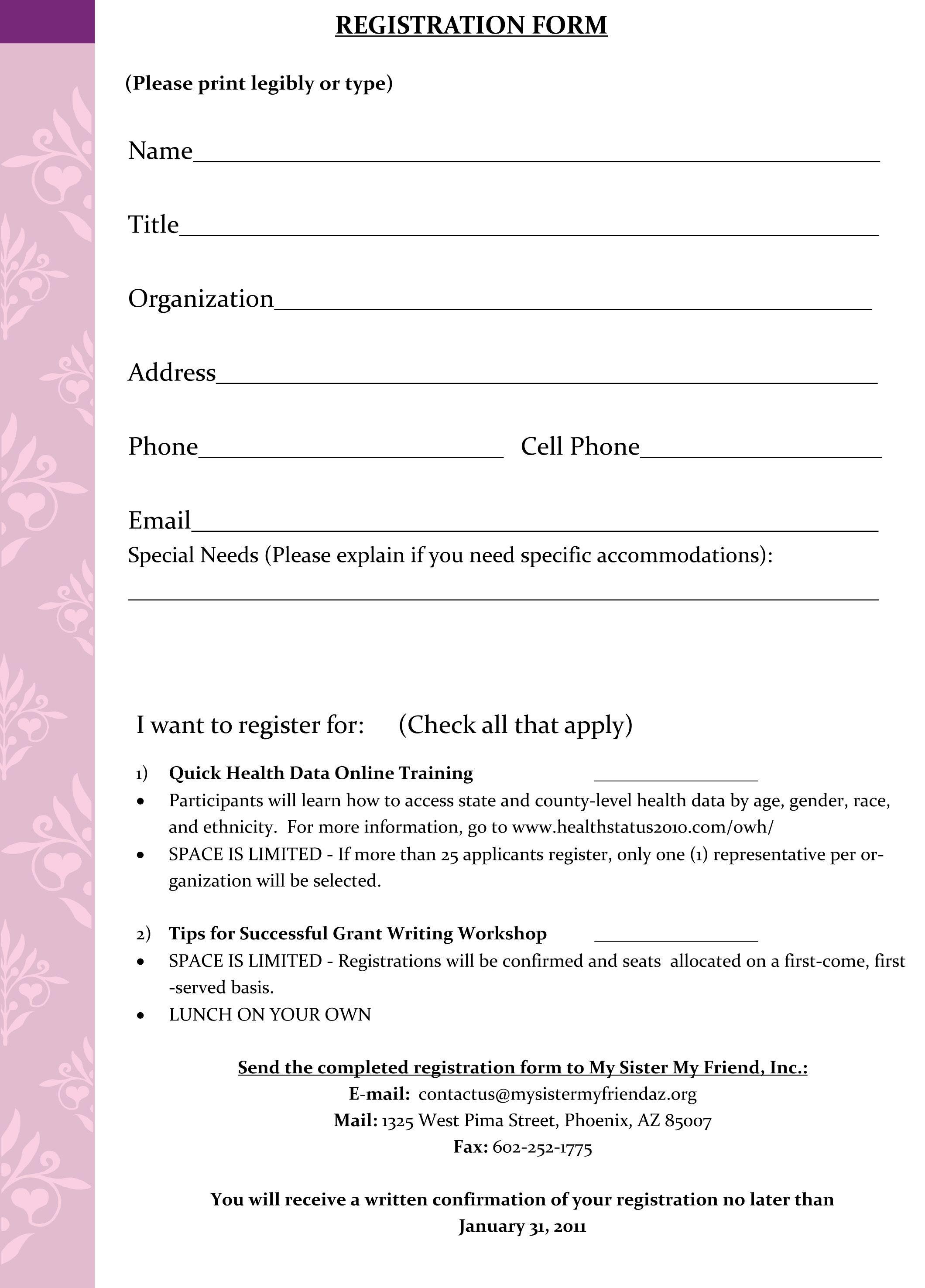 Rev 2 Registration Form With Images Registration Form