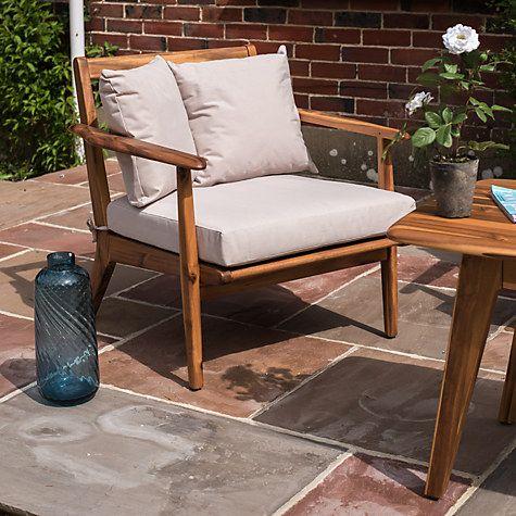 John Lewis Fyn Lounging Garden Armchair, FSC-certified (Acacia)